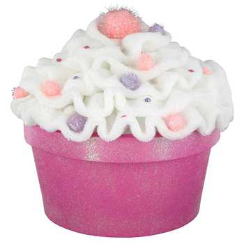 Pink & White Cupcake Box with Glitter Base